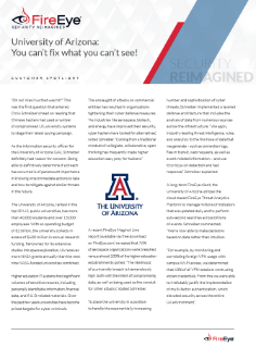 Cas client : Université d'Arizona